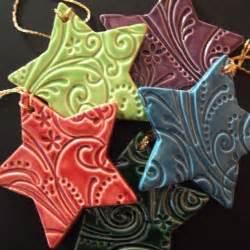 salt dough ornaments love the colors and patterns