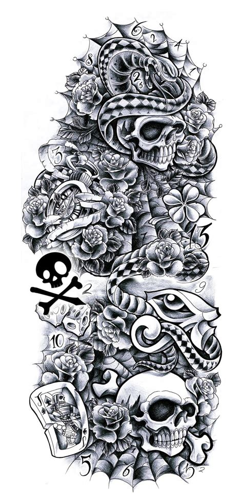 tattoo sleeve drawings commission sleeve andrea by willemxsm on deviantart
