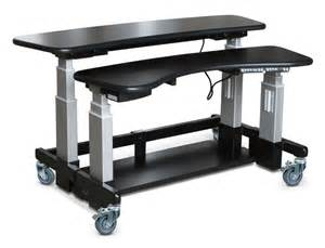 rolling laptop desk table adjustable computer bed table