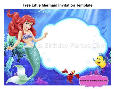 mermaid birthday card template free mermaid invitation template mermaid
