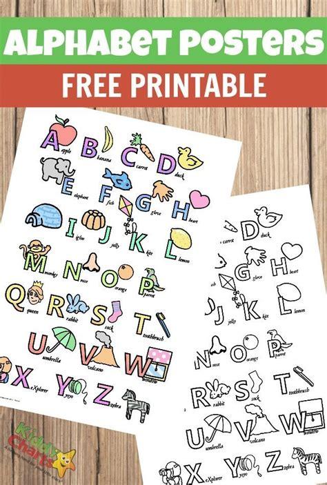 printable alphabet poster alphabet poster printables