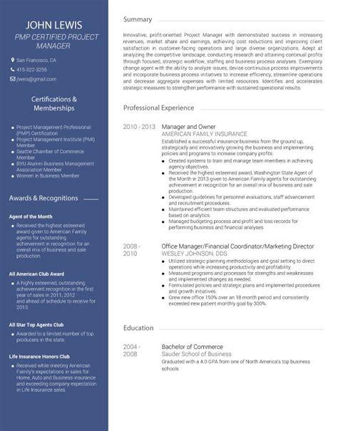 Convert Your Linkedin Profile To A Pdf Resume Visualcv Sle Business Resume Template
