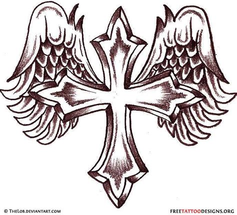 cross angel wings tattoo designs 50 cross tattoos designs of holy christian