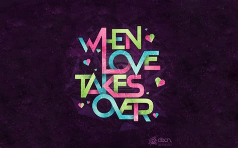 colorful love wallpaper hd typography quote purple background colorful love