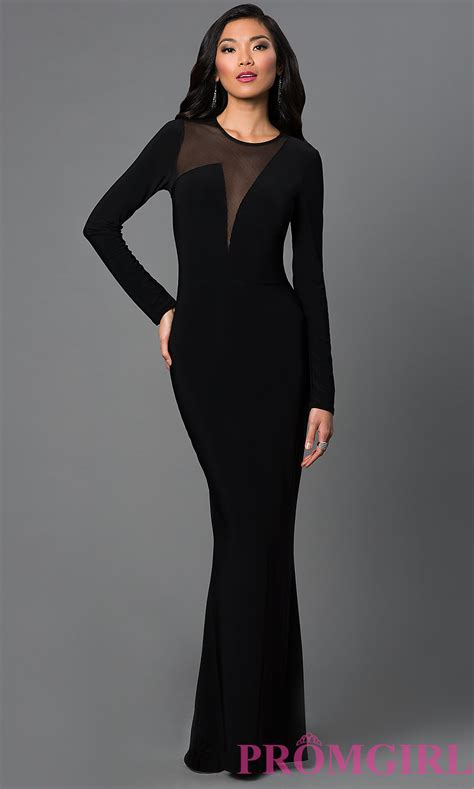 black homecoming dresses with sleeves long black long sleeve prom dress oasis amor fashion
