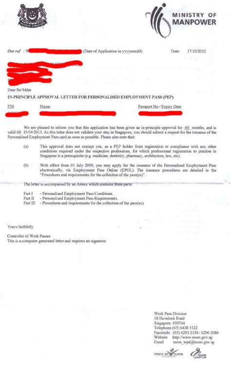 Employment Letter Validity How Can I Verify The Validity Of An Ipa Letter Singapore Expats Forum