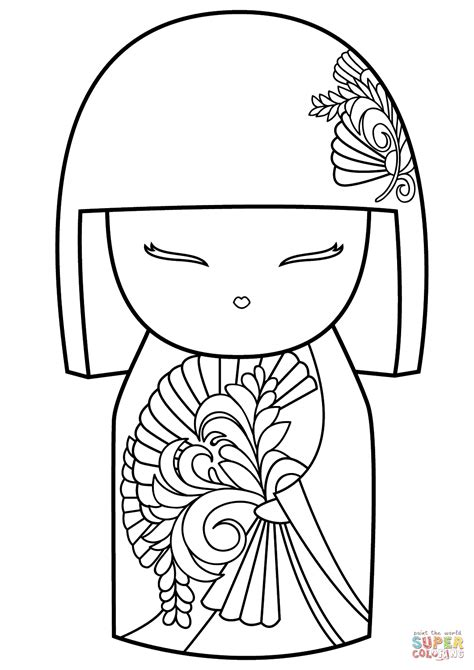 kimmidoll coloring free printable coloring pages