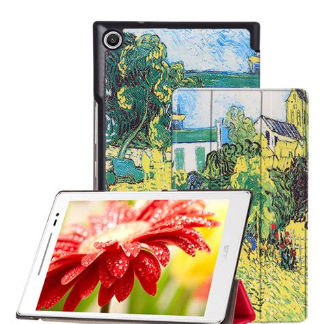 Tempered Glass Asus Zenpad 8 Z380 Z380c Z380kl Anti Gores Kaca magnet leather cover stand for asus zenpad 8 0 z380
