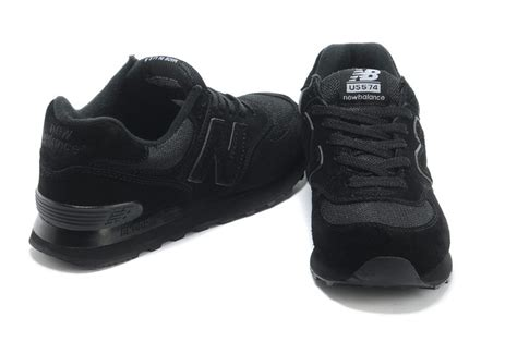 all black womens athletic shoes buy authentic fashion new balance 574 classic all black