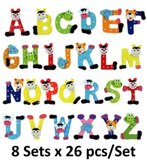 4pcs set 1 1 8 quot alphabet letters fridge magnets shop collectibles daily