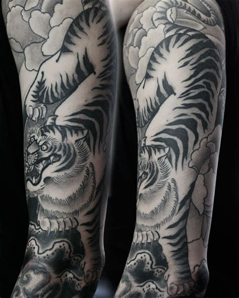 black and grey tiger tattoo designs 66 black and grey tiger tattoos collection