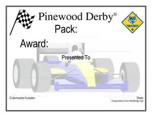 pinewood derby certificate cub scout amp boy scout ideas