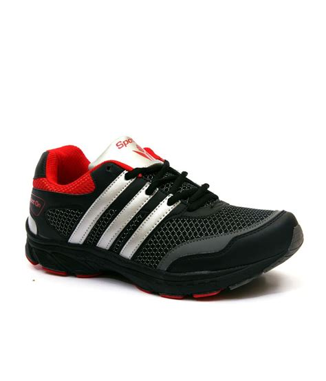 spot on black running s sport shoes snapdeal price