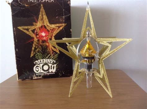 vintage merry glow star electric spinning rotating topper ornament vintage merry glow sputnik lighted rotating tree topper w box