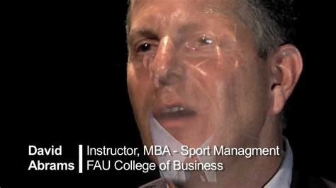 Fau Mba Sports Management by Empower David Abrams Fau Mba Sport Management