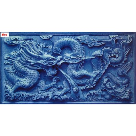 dragon decorations for a home 150cm 60cm 3d background chinese dragon cameo print fish
