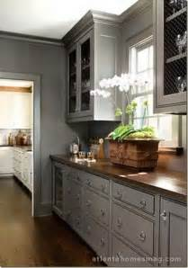 Nice Best Color For Kitchen Walls With Dark Cabinets #4: Grey%2Bkitchen%2B2.jpg