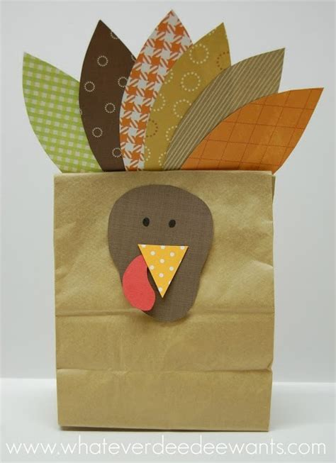 Thanksgiving Paper Bag Crafts - paper bag turkey munchkins and