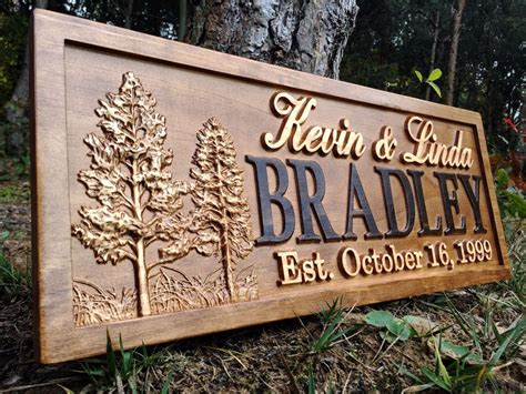 Personalized Wood Signs Home Decor Personalized Cabin Sign Lakehouse Home Decor Custom Wood Anniversary Gift Ebay
