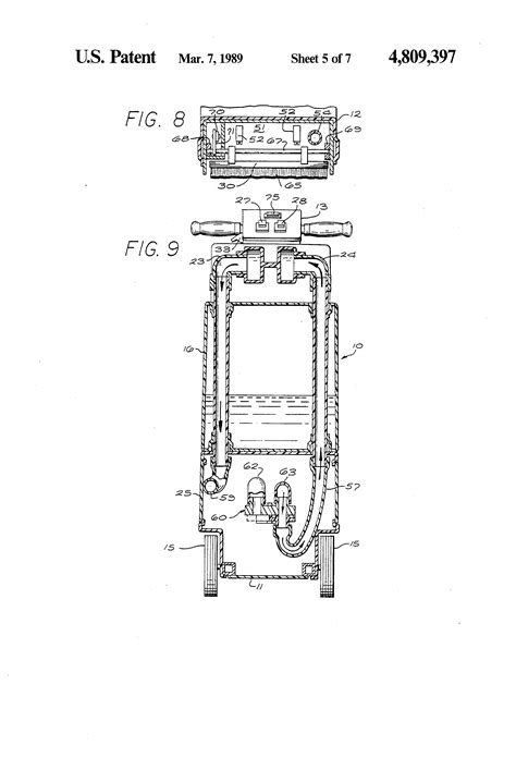 rug doctor parts schematic patent us4809397 rug and carpet cleaner patents