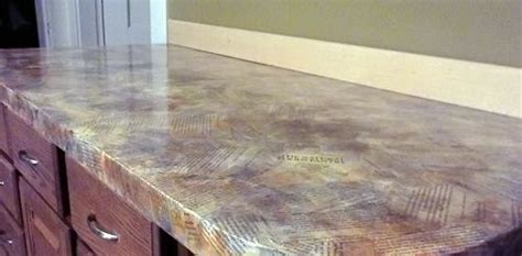 Decoupage Countertops - we resurfaced our countertops with this really cool