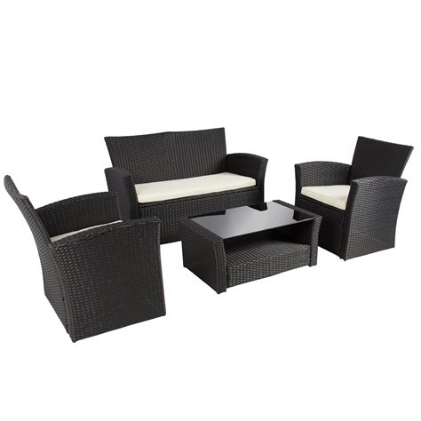 rattan settee furniture black rattan sofa rattan effect 3 seater mini corner sofa