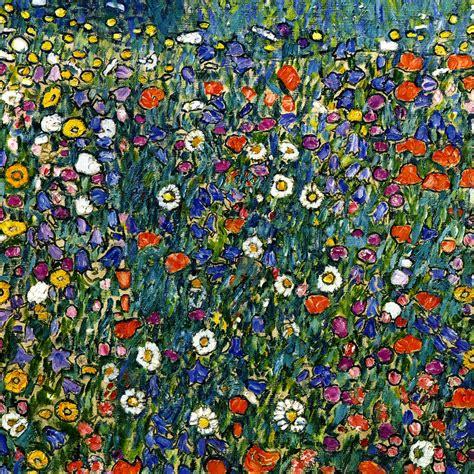 gustav klimt poppy bluebell daisy harebell flowers 24