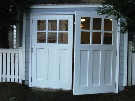 swing garage door swing open garage doors swinging swing out or