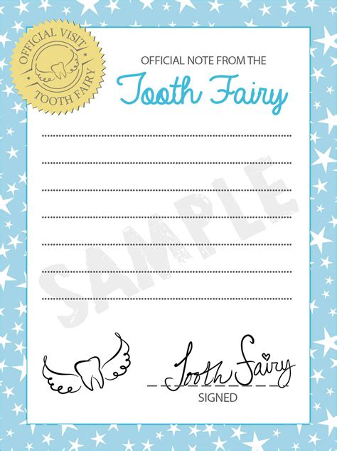tooth fairy letterhead template mommymotivation