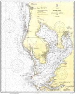 florida water depth map ta bay and st joseph sound 1932