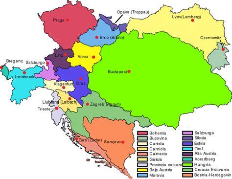 File:Austria Hungary map with legend ES.svg
