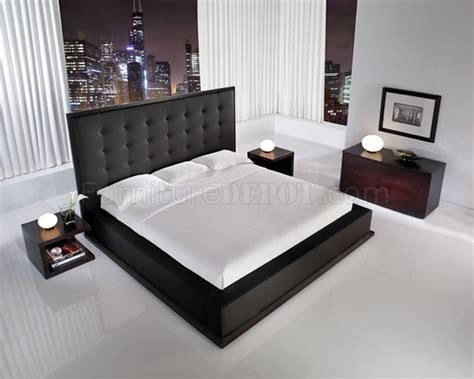 black leather bedroom sets black full leather ludlow bedroom set w oversized