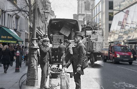 famous scenes then and now 16 ghostly images of london landmarks then and now
