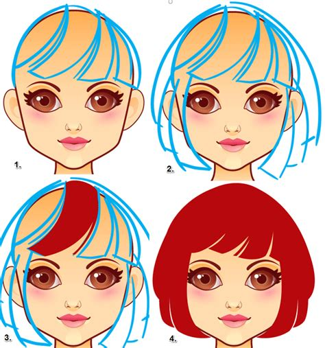 drawing of bob hair how to draw hair and clothes for a virtual dress up doll