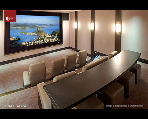 cineak fortuny seats in innovative home theater modern