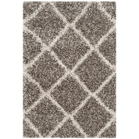 3 foot area rugs safavieh hudson shag gray ivory 3 ft x 5 ft area rug sgh281b 3 the home depot