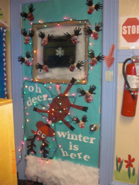 oh deer door decoration classroom decor winter and deer on