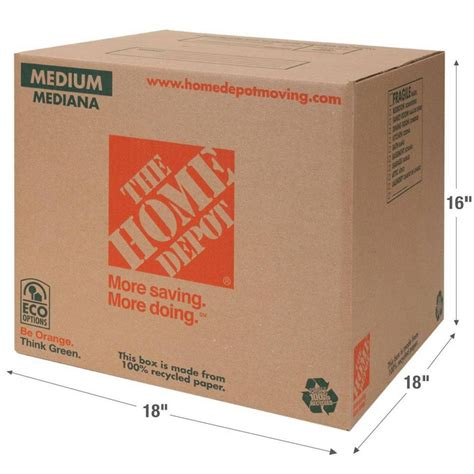 Diy Recycled Home Decor by The Home Depot 18 In L X 18 In W X 16 In D Medium Box