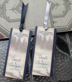bookmark favors items similar to wedding favor bookmarks rustic winter woodland pine trees in snow on etsy