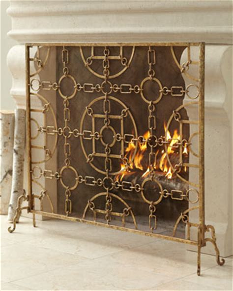 living in the 513 gold fireplace screens