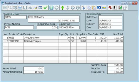 recipient created tax invoice template recipient created tax invoice exle rabitah net