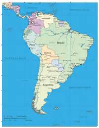 south america rivers and lakes map map of south america rivers and lakes