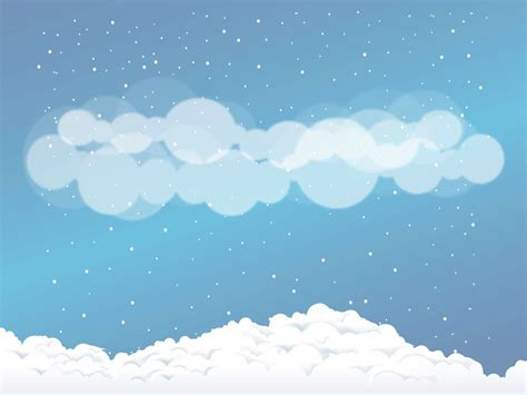 Cloud Wants Snow snow clouds vector graphics freevector