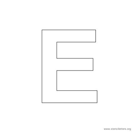 best photos of large letter e template free printable