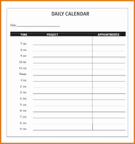 printable daily calendar template 3 daily calendar template expense report for daily