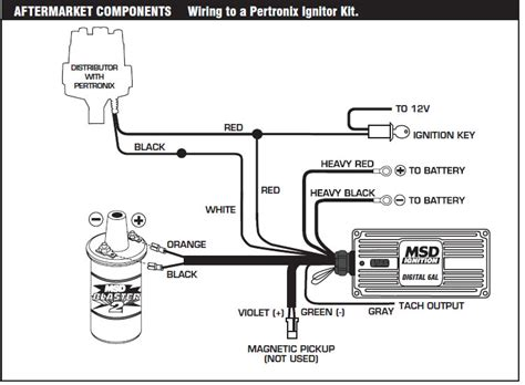 msd digital 6al wiring diagram msd free engine image for