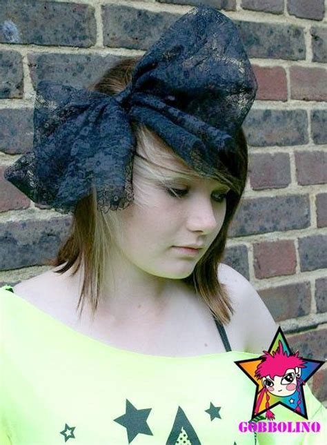 the 80s and hair bows material girl 80s style black lace big large hair bow
