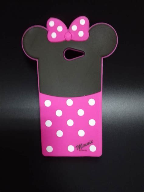Silicon Casing Softcase 3d Sony Xperia M M2 M5 3d lovely minnie soft silicone rubber back cover phone for sony xperia m2 s50h