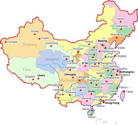 map of china cities china city maps map of china cities major china cities