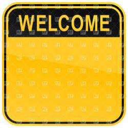 welcome template square template with welcome heading and space for text